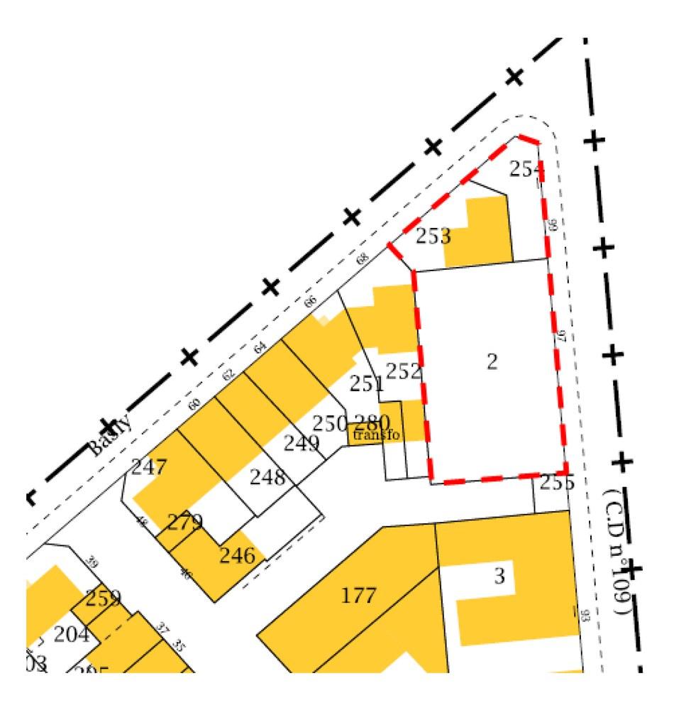 Plan de la rue Basly à Asnières
