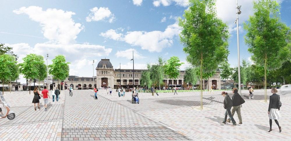 Toulouse tri postal hypothèse d'aménagement du parvis canal