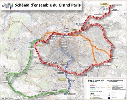 """Grand Paris : les """"périmètres d'influence"""" de 10 gares vont faire l'objet d'une étude complémentaire"""