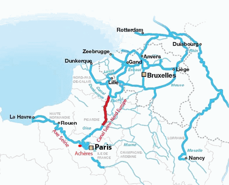 Ile-de-France : études préparatoires au projet de grand port logistique à Achères
