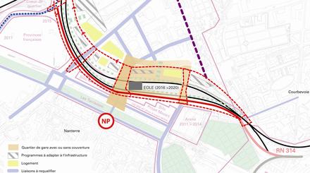 Nanterre : appel à maîtrise d'oeuvre pour la gare d'Eole