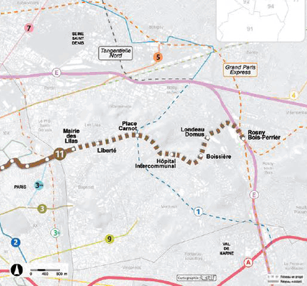 Seine-Saint-Denis : aménager les sites des gares de la ligne 11 prolongée