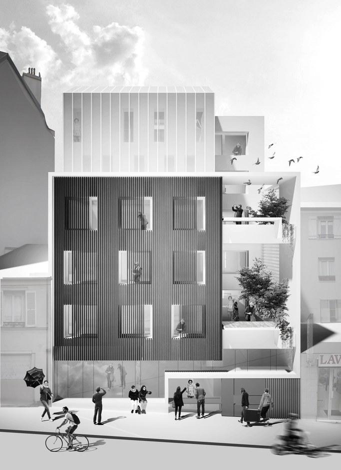Belleville : Une serre habitée par des étudiants en architecture