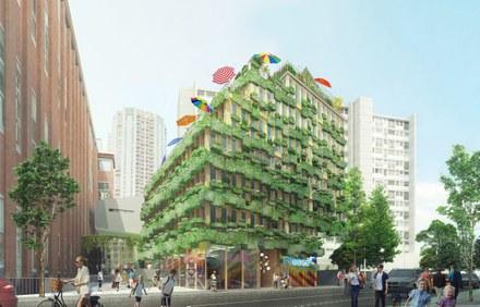 Rue Edison : mixité de fonctions dans une pyramide de logements