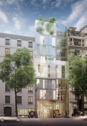 Rue Ordener : mutation d'une halle EDF en fond de cour