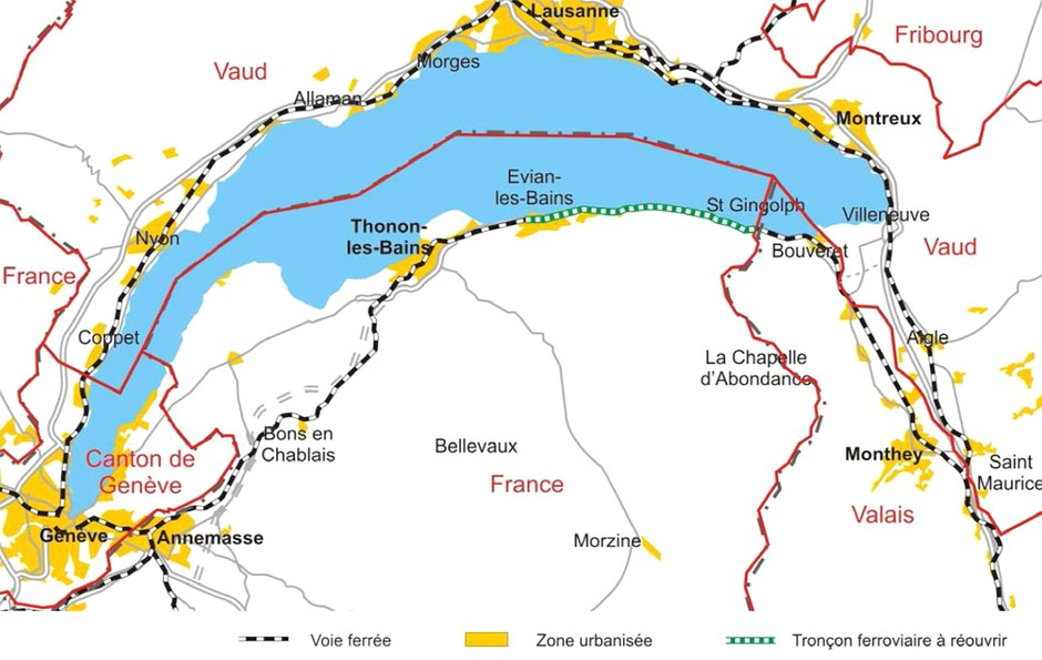 Grand Genève / Lac Léman : Citadia et EODD vont étudier la réouverture de la ligne du Tonkin