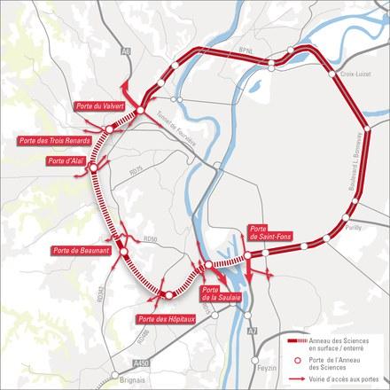 Lyon lance les études pour l'Anneau des sciences d'ici 2030 et une nouvelle ligne de métro