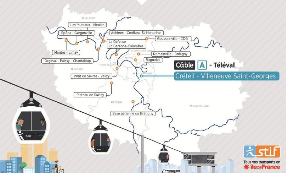 Île-de-France : Ingérop chargé des études de préfaisabilité pour douze projets de liaisons par câble