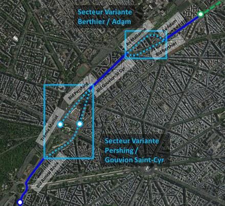 Paris : le tram T3 avance jusqu'à la porte Dauphine