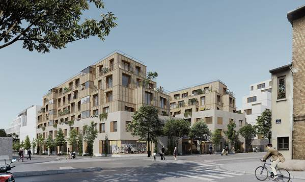 Paris/Porte des Lilas : le tandem Giboire/LA Architectures lauréat de la consultation du lot E1 sur le secteur Paul-Meurice
