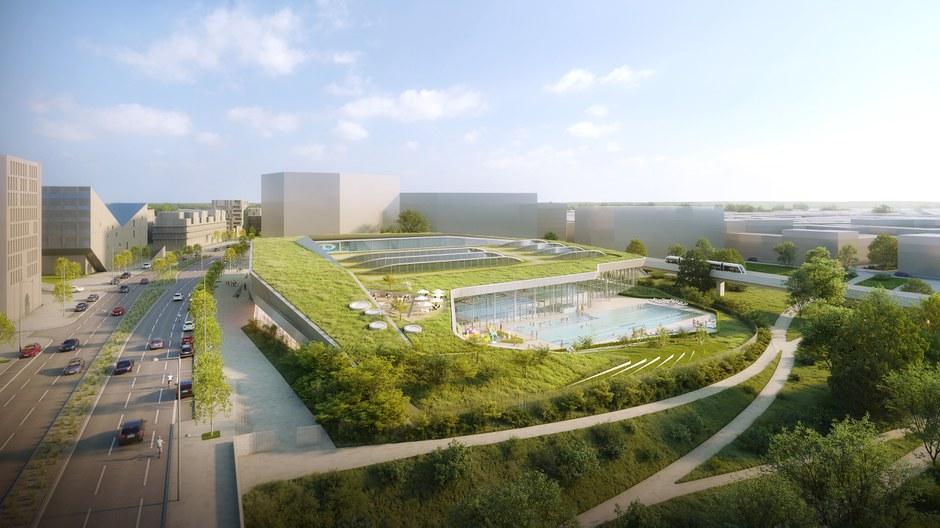 Lille : le groupement Rabot Dutilleul / Otton Sanchez Architectes construira la piscine olympique de Saint Sauveur