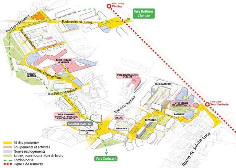 Nantes : la ZAC de La Bottière - Le Pin-Sec est créé, sur la base d'un projet co-construit