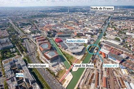 Aubervilliers Franchissement Impression 3D Vue