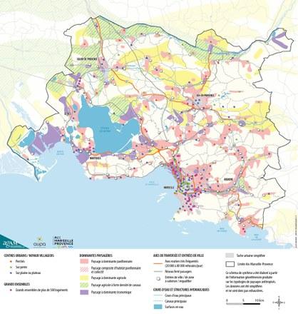 AMP Schéma de synthèse des typologies des paysages anthropisés
