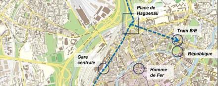 Strasbourg renforcement bouclage nord-ouest 3 tracés CROPED