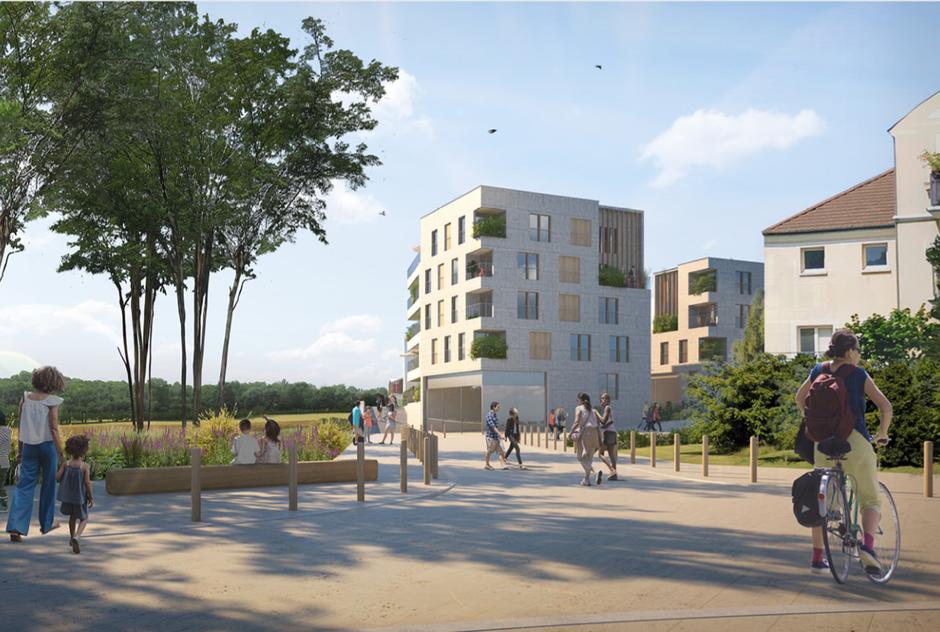 Rungis : entre ville et campagne, l'agroquartier Montjean viabilise ses espaces publics