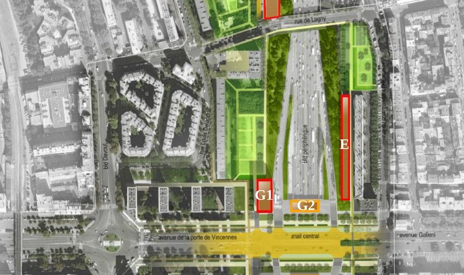 Paris ZAC porte de Vincennes plan des lots CROPED