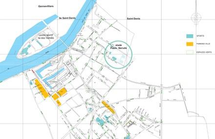 Saint-Ouen gymnase Pablo-Neruda localisation