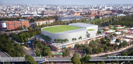 Paris Gare des Mines Bouygues Arena2 vue aérienne CROPED