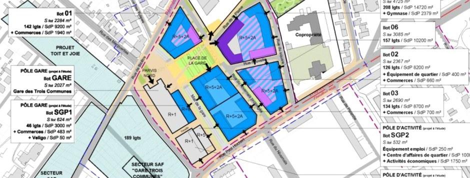 L'Haÿ-les-Roses secteur gare L14 Lallier prog logement CROPED