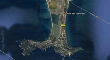 Hyères Salon Pesquiers photo satellite CROPED