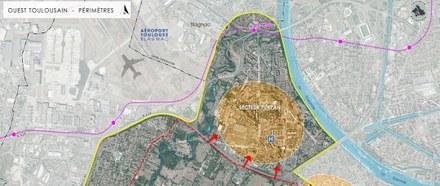 Toulouse Nord-Ouest ENVT perimetre étude CROPED