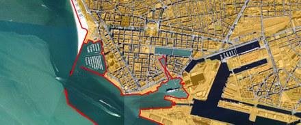 Le Havre orthophoto aérienne ville et port source EPF Normandie Atlaas tache urbaine CROPED