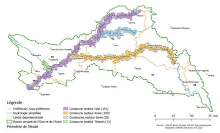 Bassin versant Oise -Carte périmètre de l'étude.PNG