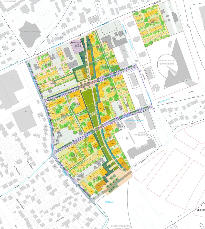 Noisy le Grand ZAC Bas Heurts Socaren Plan Guide août 2020 D&A